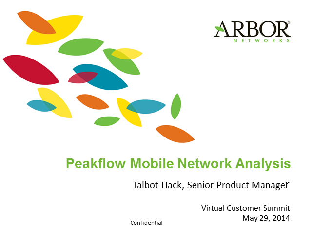 Peakflow Mobile Network Analysis: Arbor's Mobile Visibility and Threat Detection