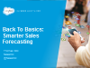 Back To Basics: Smarter Sales Forecasting