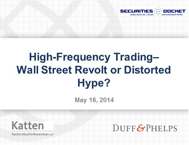High-Frequency Trading: Wall Street Revolt or Distorted Hype?