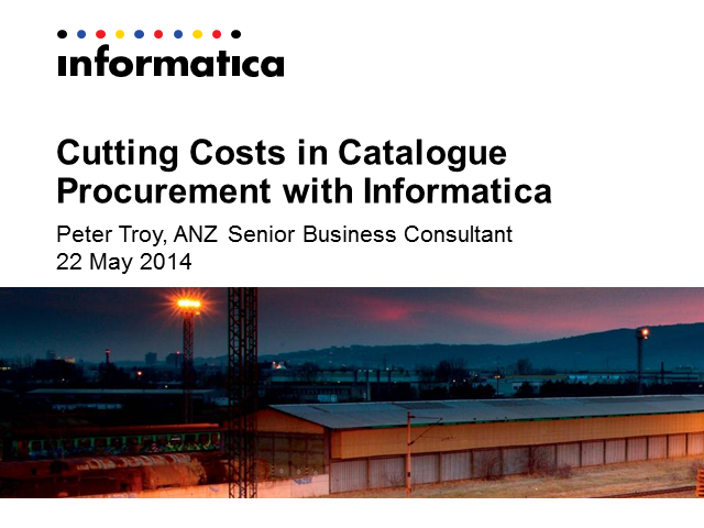 Cutting Costs in Catalogue Procurement with Informatica