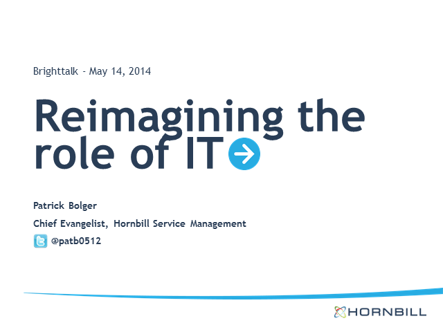 Reimagining the role of IT