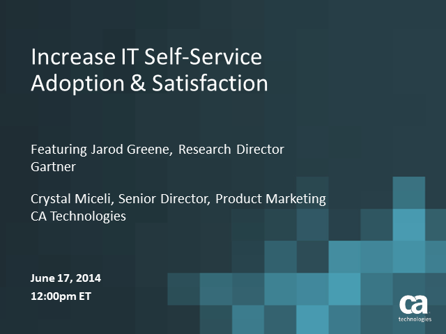 Increase IT Self-Service Adoption & Satisfaction