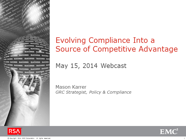 Evolve Compliance into a Source of Competitive Advantage