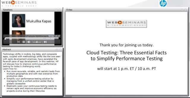 Cloud testing:  Three essential facts to simplify performance testing