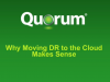 Why Moving DR to the Cloud Makes Sense