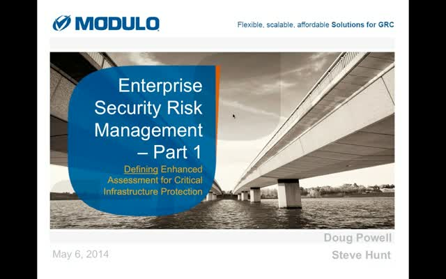 """Enterprise Security Risk Management"" - Part 1"