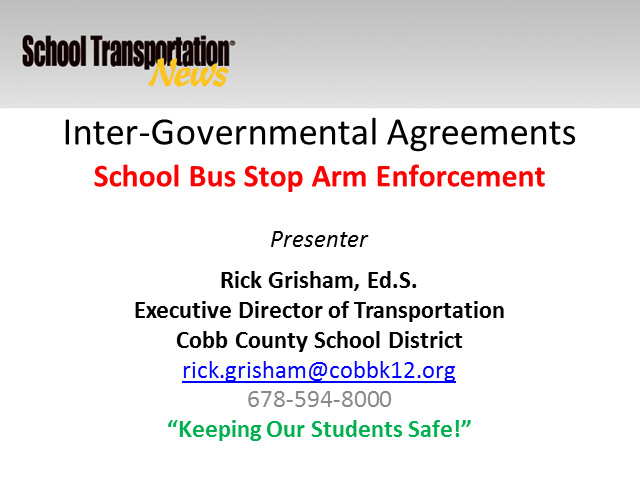 School Bus Stop Arm Enforcement Programs