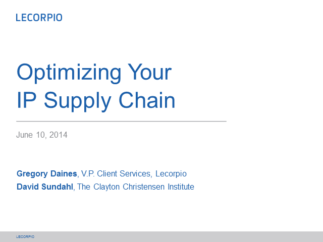 Optimizing your IP supply chain