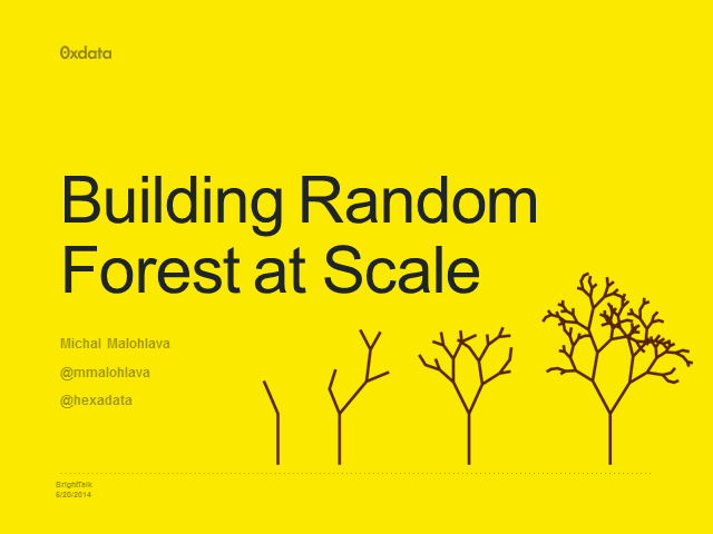 Big Data - Distributed Random Forest