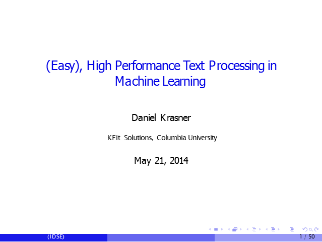 High Performance Text Processing in Machine Learning