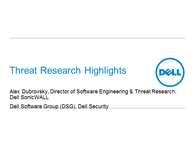 Dell SonicWALL Threat Research Update 2014