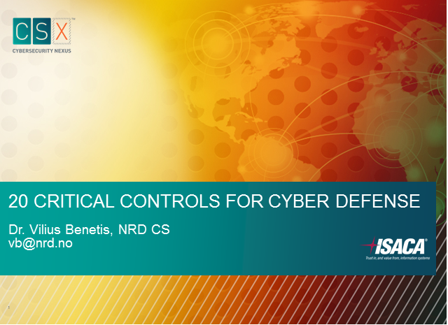 20 Critical Controls for Cyber Defense
