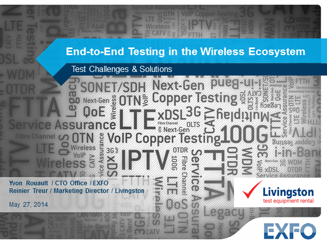 End-to-End Testing within the Wireless Ecosystem