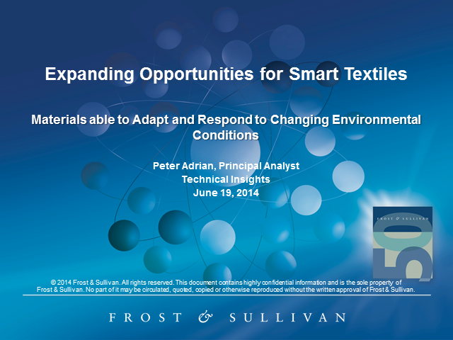 Expanding Opportunities for Smart Textiles