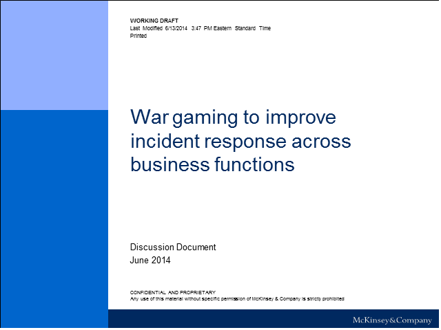 How to Use War-Gaming to Improve Response Capabilities Across Business Functions