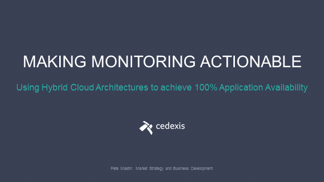 Using Hybrid-Cloud Architectures to Achieve 100% Application Availability