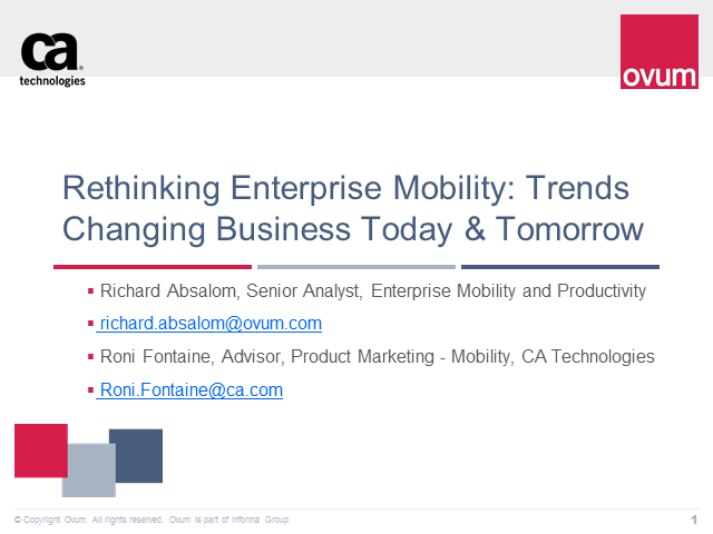 Rethinking Enterprise Mobility: Trends Changing Business Today and Tomorrow