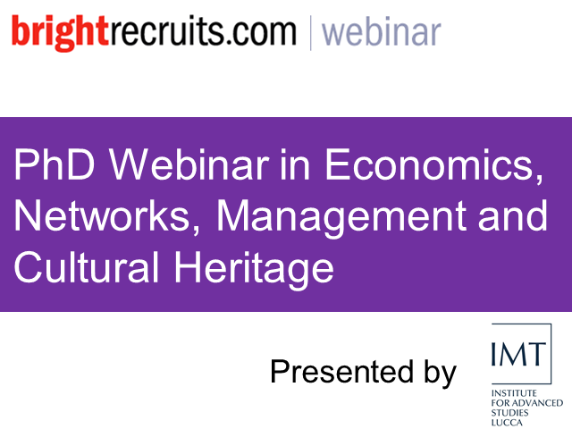 PhD Webinar in Economics, Networks, Management and Cultural Heritage
