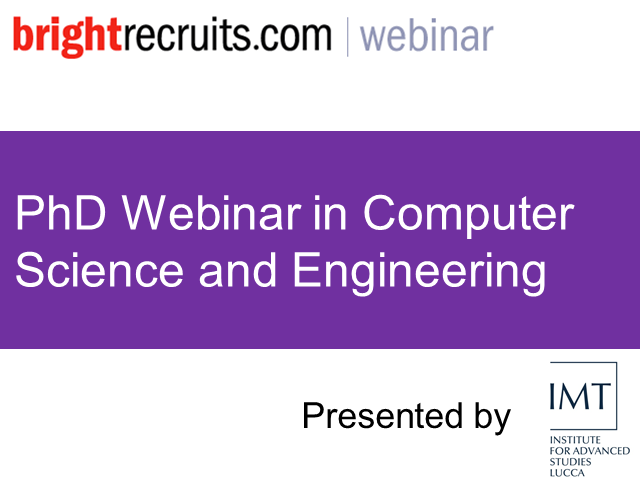 PhD Webinar in Computer Science and Engineering
