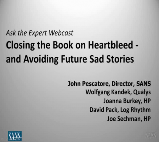 Closing the Book on Heartbleed - and Avoiding Future Sad Stories