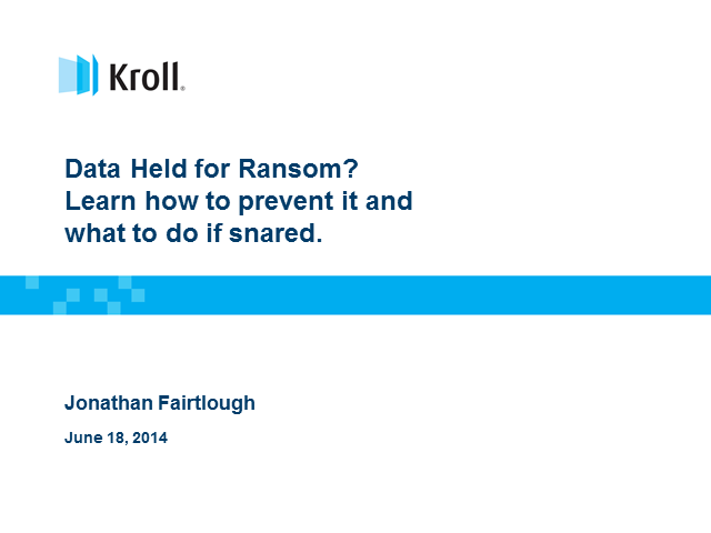 Data held for ransom? Learn how to prevent it and what to do if snared