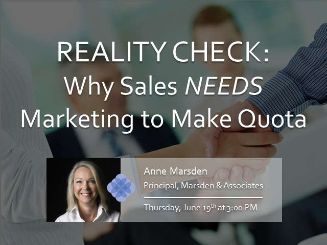 Reality Check: Why Sales NEEDS Marketing to Make Quota