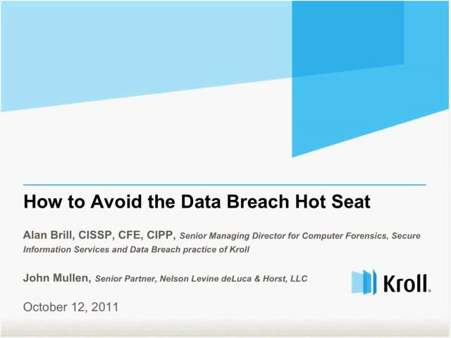 How to Avoid the Data Breach Hot Seat