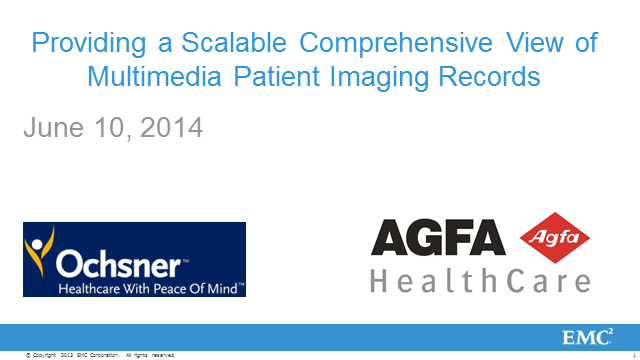 Providing a Scalable Comprehensive View of Multimedia Patient Imaging Records