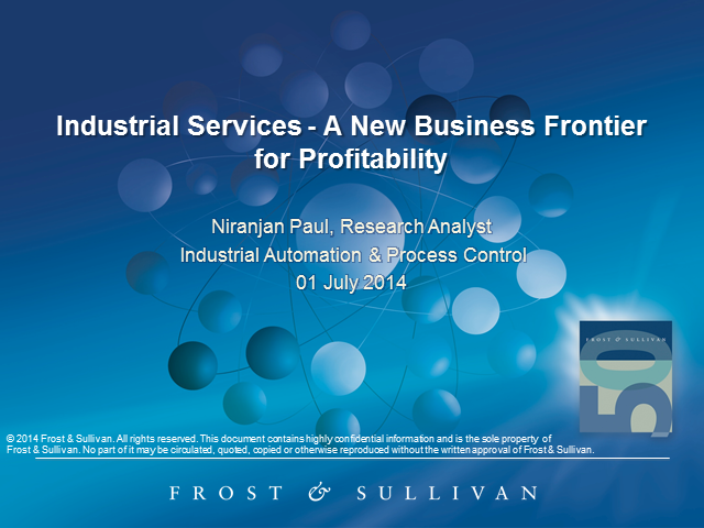 Industrial Services Market - A New Business Frontier for Profitability