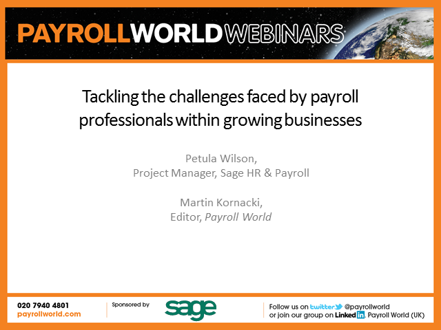 Tackling the challenges faced by payroll professionals within growing businesses