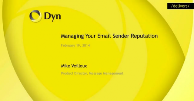 Managing Your Email Sender Reputation