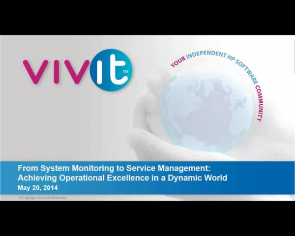 From System Monitoring to Service Management: Achieving Operational Excellence i