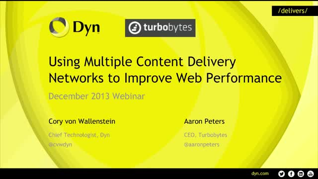 Using Multiple CDNs To Improve Web Performance