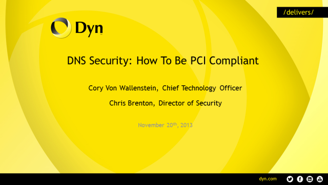 DNS Security: How To Be PCI Compliant