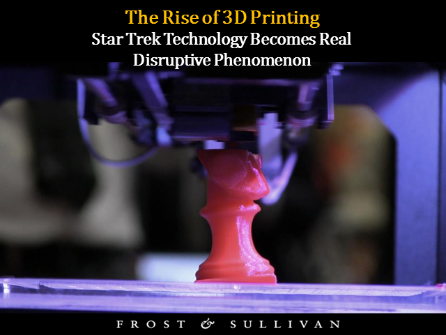 The Rise of 3D Printing: 'Star Trek' Technology Becomes Real Disruptive Phenomen