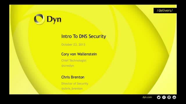 Intro To DNS Security