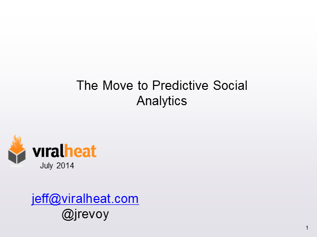 Proving Social ROI with Predictive Social Analytics