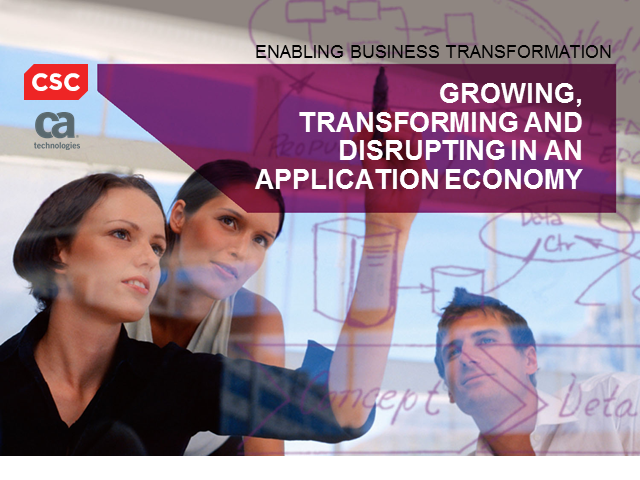 Growing, Transforming and Disrupting in an Application Economy