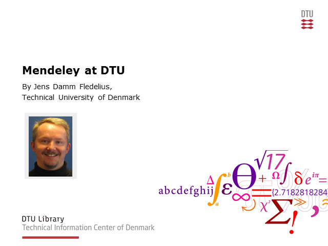 Vision of Technical University of Denmark to use Mendeley to drive research and
