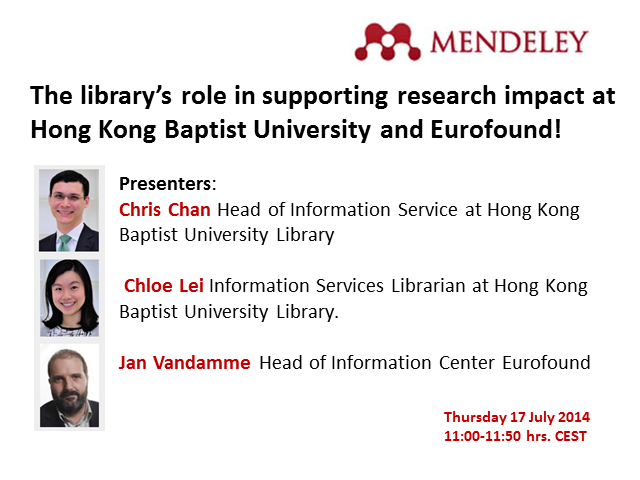 The library's role in supporting research impact at Hong Kong Baptist University