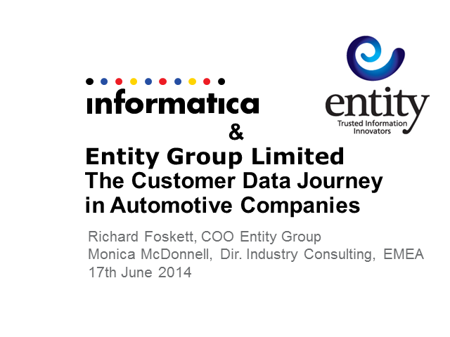 The Customer Data Journey for Automotive Companies