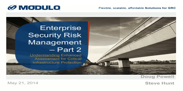 """Enterprise Security Risk Management"" - Part 2"