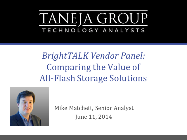 Vendor Panel: Comparing the Value of All-Flash Storage Solutions