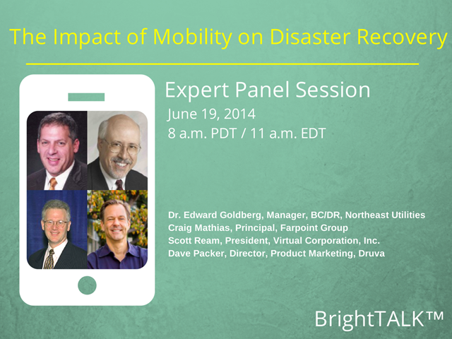 The Impact of Mobility on Disaster Recovery - Panel Session