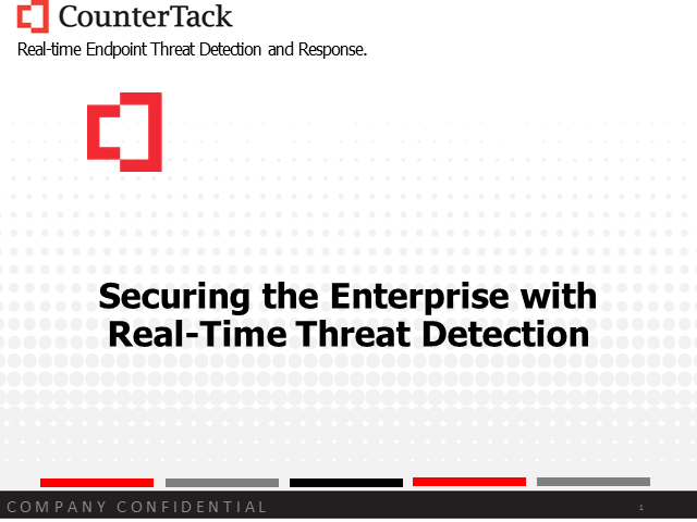 Securing the Enterprise with Real-time Threat Detection