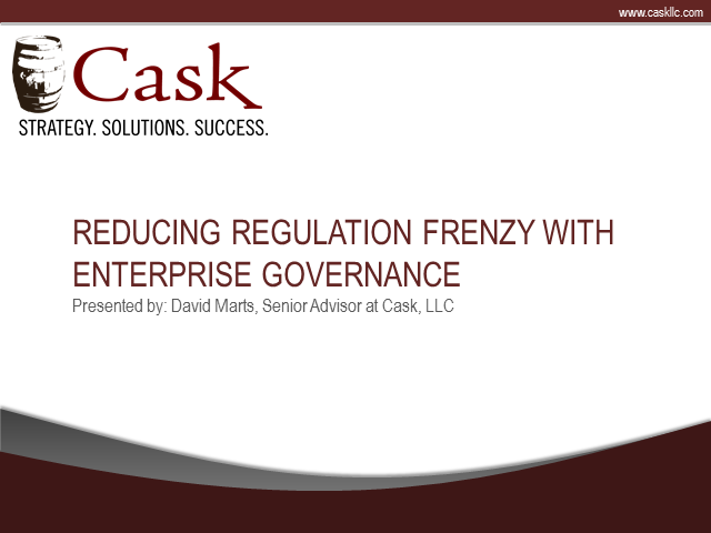 Reducing Regulation Frenzy with Enterprise Governance