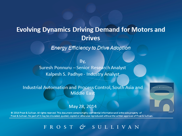 Evolving Dynamics Driving Demand for Motors and Drives