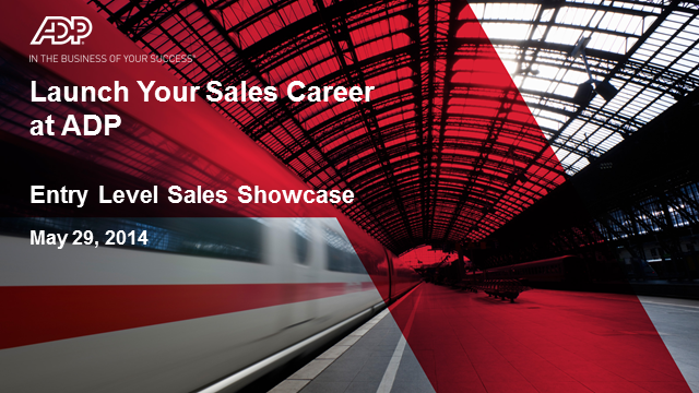Launch your Sales Career at ADP