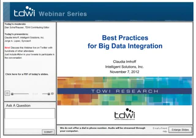 Best Practices for Big Data Integration
