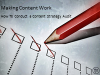 Making Content Work: How to Conduct a Content Strategy Audit